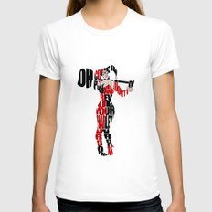 Harley Quinn Womens Fitted Tee White SMALL