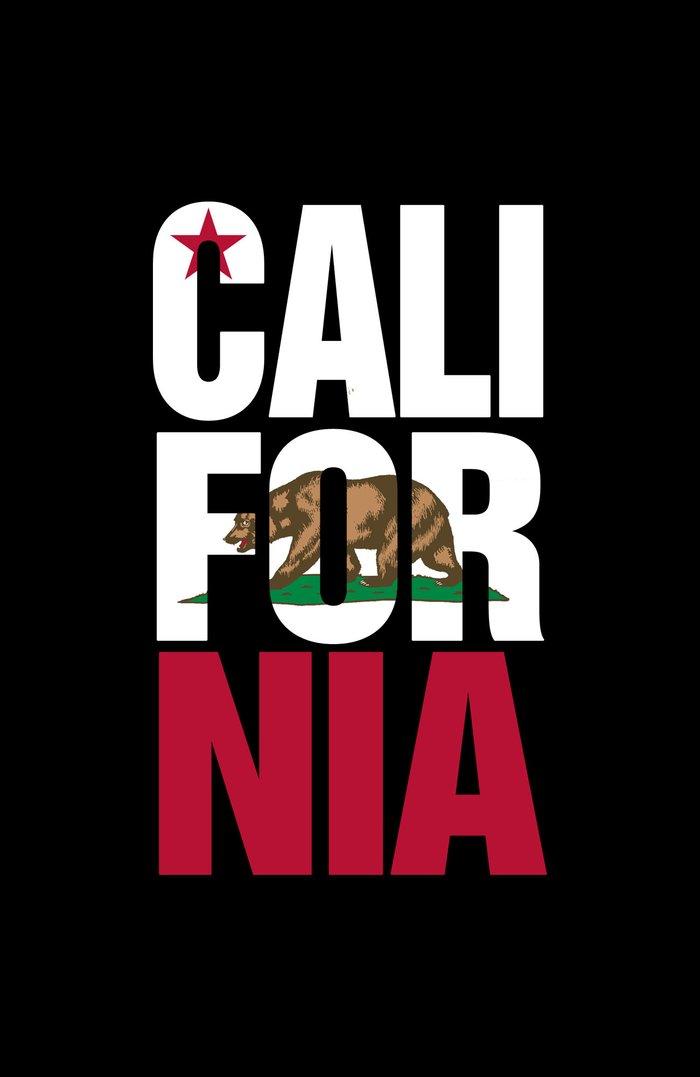 california bear flag typography art print by rexlambo society6