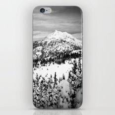 Snowy Mountain Peak Black and White iPhone & iPod Skin