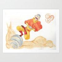Avatar - Air Bending  Art Print