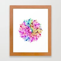 Rainbow Watercolor Paisl… Framed Art Print