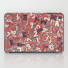 A1B2C3 coral red iPad Case