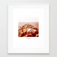 océano 4 Framed Art Print