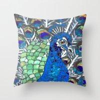 Small Peacock Throw Pillow