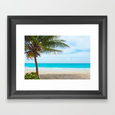 Tropical Paradise Beach Framed Art Print