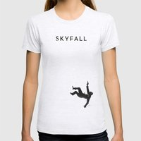 Skyfall Womens Fitted Tee Ash Grey SMALL