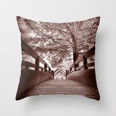 Sepia Bridge Throw Pillow