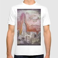 Boat Over The City Mens Fitted Tee White SMALL