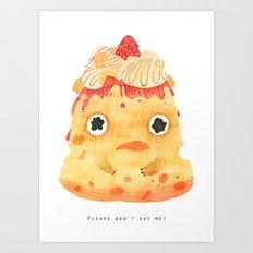 Cheesecake: Please don't eat me! Art Print