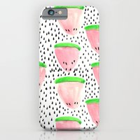 iPhone & iPod Case featuring Watermelon Print II by Bouffants and Broken Hearts