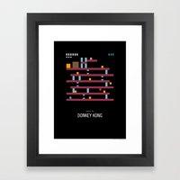 Minimal NES - Donkey Kon… Framed Art Print