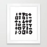 BLACK LINES Framed Art Print