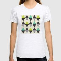 Mid-century pattern Womens Fitted Tee Ash Grey SMALL