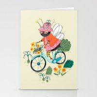 bee Stationery Cards featuring Bee by ilana exelby