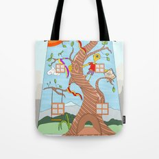 Childhood on a wall Tote Bag