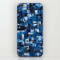 Blue Blade Painting iPhone & iPod Skin