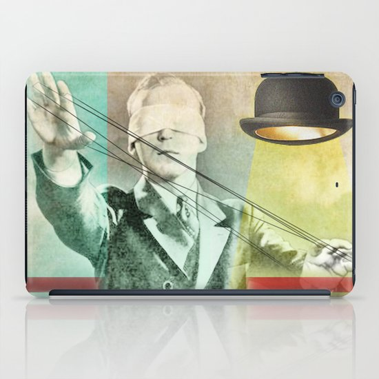 Blindfold bowler iPad Case