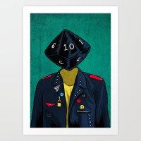 D10 Art Print