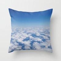 Blue Sky White Clouds Co… Throw Pillow