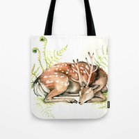 Sleeping Deer Tote Bag