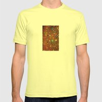 Color Travel part 1 Mens Fitted Tee Lemon SMALL