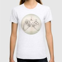 Joystick #02 Womens Fitted Tee Ash Grey SMALL