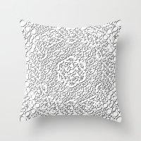 mandala curls Throw Pillow