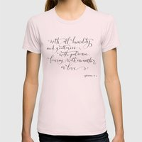 Bearing in Love Womens Fitted Tee Light Pink SMALL