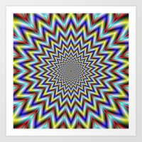 Pulsar In Red Yellow And… Art Print