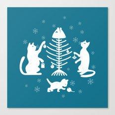 Cats at Christmas Canvas Print