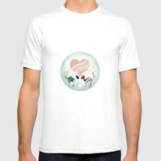 CatLove White Mens Fitted Tee SMALL