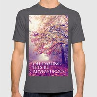 oh darling, lets be adventurous Mens Fitted Tee Asphalt SMALL