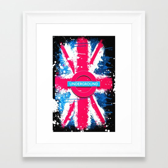 UNDERGROUND - for IPhone - Framed Art Print