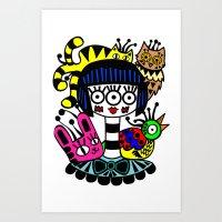 Imaginary Friends Art Print
