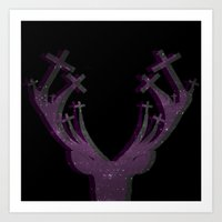 ⚜ The Space Deer ⚜ Art Print