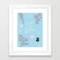 'Ease and Grace' Framed Art Print