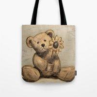 Teddybear With A Sunflow… Tote Bag