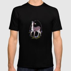 Fawn and Thistle Black SMALL Mens Fitted Tee