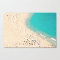 beach love III - Nazare Canvas Print