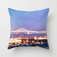 BAY BRIDGE GLOW Throw Pillow