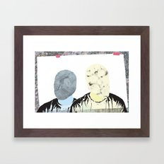 Two of Me Framed Art Print