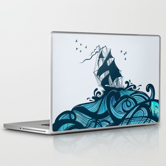 Upon The Sea Laptop & iPad Skin