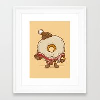 Bacon Scarf Maple Donut Framed Art Print