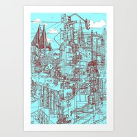 San Francisco! (Turquois… Art Print