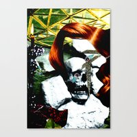 HER RUBY MY EMERALD Canvas Print