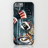 iPhone & iPod Case featuring Racoon by mr. louis