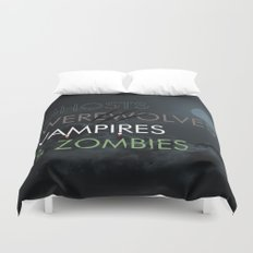 Ghosts, Werewolves, Vampires & Zombies Duvet Cover