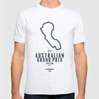 2013 Australian Grand Prix Mens Fitted Tee Ash Grey SMALL