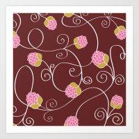 Raspberry Patch Red Art Print