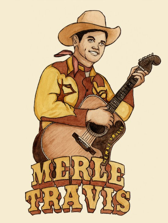 Merle Travis Canvas Print